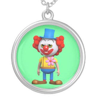 palhaço 3d engraçado colar personalizado
