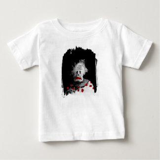 Palhaço assustador camiseta para bebê