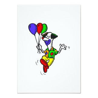 Palhaço & balões felizes da dança convites personalizado
