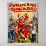 Palhaço de circo do vintage do KRW Impressão