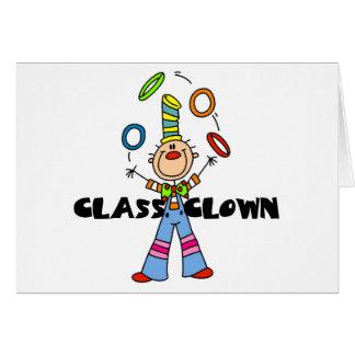 Palhaço de classe cartão comemorativo