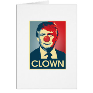 PALHAÇO de Donald Trump -- Anti-Trunfo 2016 - Cartão
