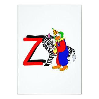 Palhaço de Z Convite 12.7 X 17.78cm