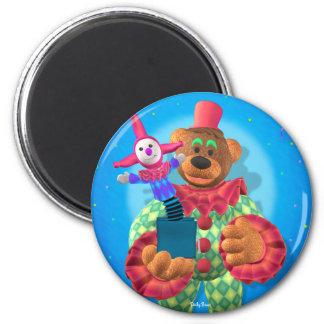 Palhaço Dinky dos ursos com Jack in the Box Ímã Redondo 5.08cm