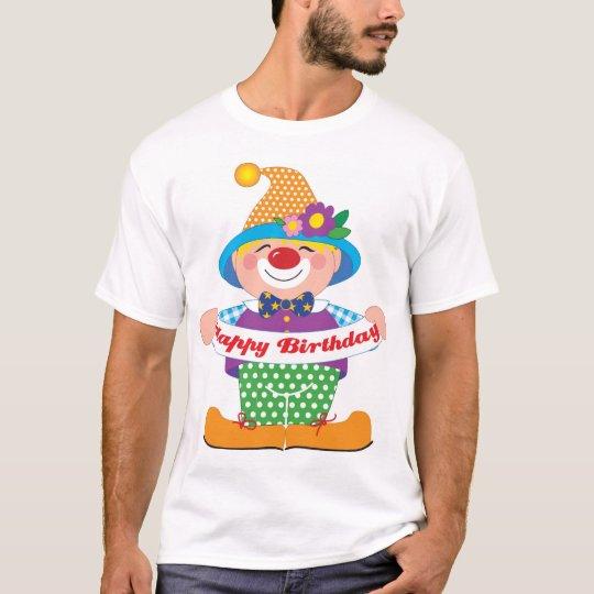 Palhaço do aniversário camiseta