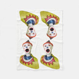 Palhaço do carnaval cobertor de velo