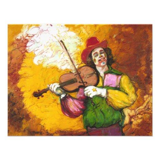 "Palhaço ""Dubie Hummingbyrd "" do violinista Convite"