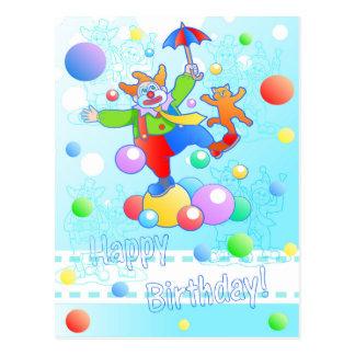 palhaço engraçado cartão postal