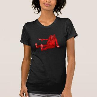 Palhaço vermelho camisetas