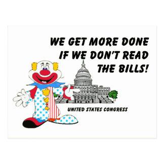 Palhaços no congresso cartoes postais