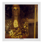 Pallas Athena por Gustavo Klimt Pôsteres