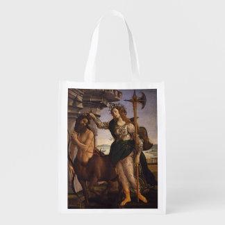 Pallas e o centauro por Botticelli Sacolas Ecológicas Para Supermercado