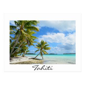 Palm Beach pacífica no cartão de Tahiti