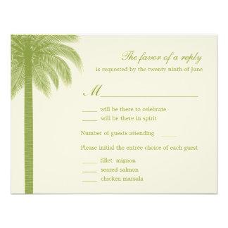Palm Beach que Wedding cartões de RSVP Response - Convites Personalizado