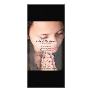 """Palma de seu poema 4"""" das mãos x 9"""" Rackcard 10.16 X 22.86cm Panfleto"""