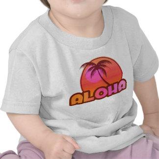 Palma do rosa Aloha Tshirt