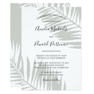 Palmas graciosas que Wedding o convite