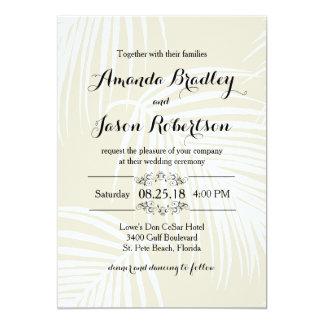 Palmas tropicais que Wedding Convite 12.7 X 17.78cm
