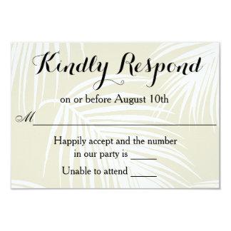 Palmas tropicais que Wedding RSVP Convite 8.89 X 12.7cm