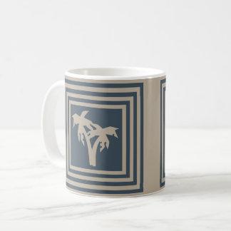 Palmeira azul escuro OP1029 de Tan da caneca de