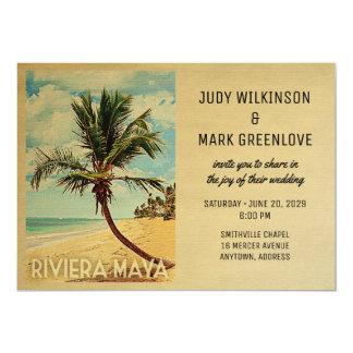 Palmeira da praia do convite do casamento do Maya