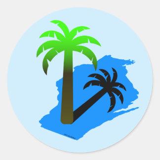 Palmeira de Wisconsin Adesivos Redondos