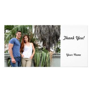 Palmeira do casal dos jovens cartão com foto