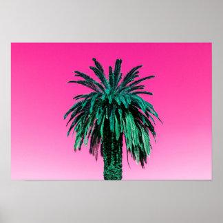 Palmeira do néon de Califórnia Poster