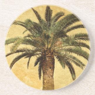 Palmeira do vintage - modelo personalizado porta copos de arenito