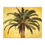 Palmeira do vintage - modelo personalizado tropica impressão em canvas