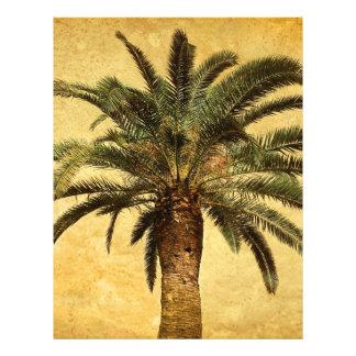 Palmeira do vintage - modelo personalizado tropica panfletos personalizados