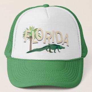 Palmeira e jacaré de Florida Boné
