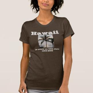 Palmeira havaiana camisetas