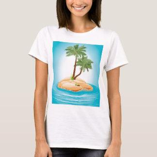 Palmeira na ilha 2 camiseta
