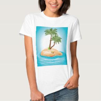 Palmeira na ilha 2 t-shirt