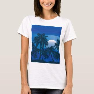 Palmeira na noite 2 camiseta