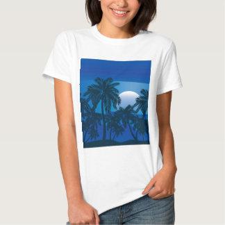 Palmeira na noite 2 camisetas