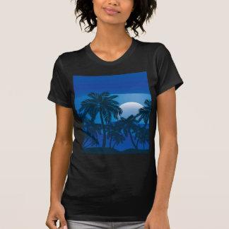 Palmeira na noite 2 tshirts