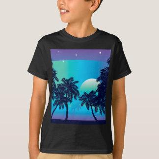 Palmeira na noite camiseta