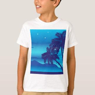 Palmeira na noite t-shirts