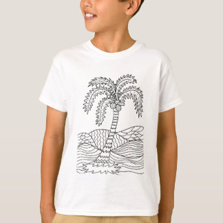 Palmeira que colore Doodles de DIY Camiseta
