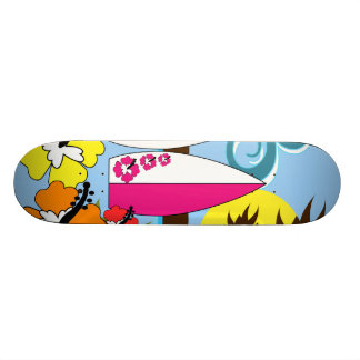 Palmeira surfando das prancha da praia do oceano shape de skate 18,4cm