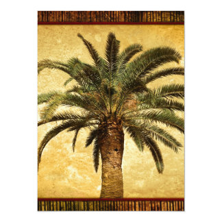 Palmeira tropical do vintage convites