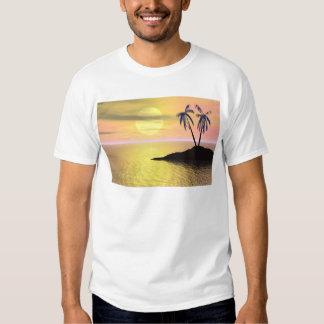 Palmeiras do por do sol camisetas