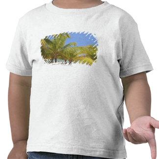 Palmeiras em uma praia branca da areia de Honduras Camiseta