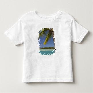 Palmeiras & lagoa, resort da ilha da angra do t-shirt