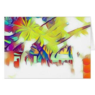 Palmeiras no cartão da vila