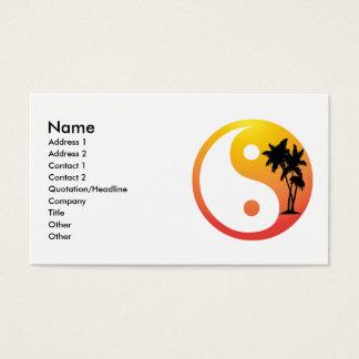 Palmeiras no cartão de visita de Yin Yang do por