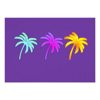 Palmeiras tropicais convites