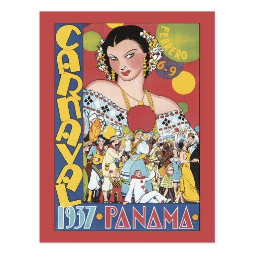 Panamá Carnaval 1937 Cartão Postal